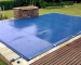 The PowerPlastics Solid Safety Cover Blue PowerPlastics Pool Covers