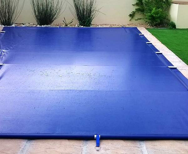 The PowerPlastics Solid Safety Cover Blue  PowerPlastics Pool Covers 8